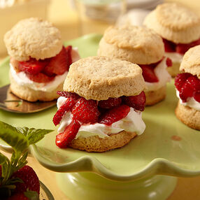 Strawberry Basil Shortcakes