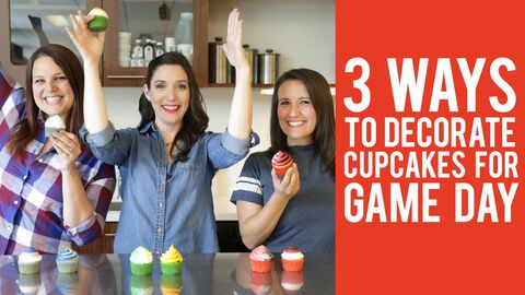 3 Ways to Decorate Cupcakes for Game Day