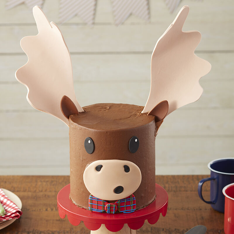 Stupendous Moose Cake Wilton Funny Birthday Cards Online Overcheapnameinfo
