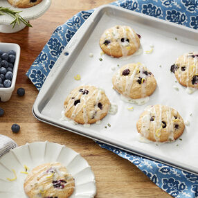Blueberry Cookies with Lemon-Rosemary Glaze Recipe