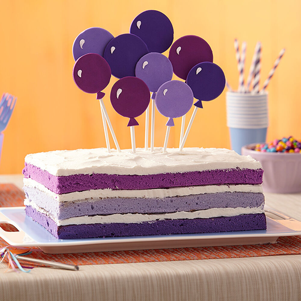 Purple Birthday Cake Wilton