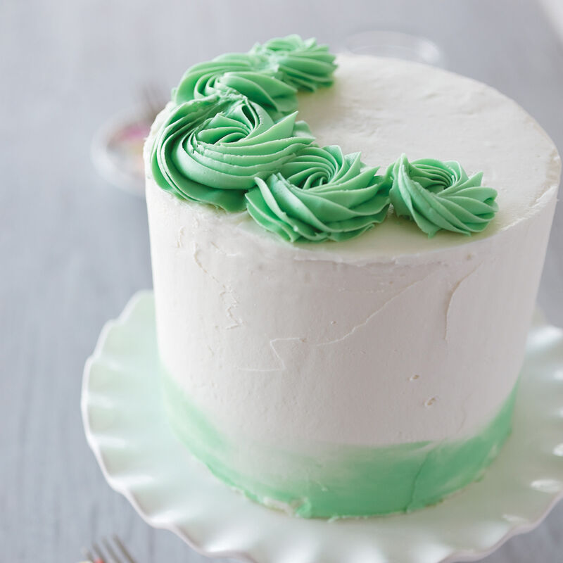 Merry Mint Rosette Cake image number 0