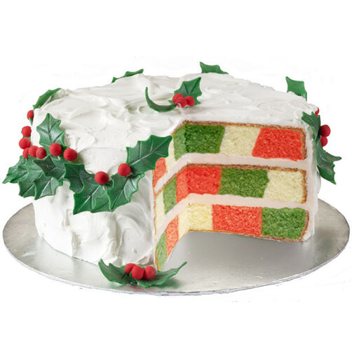 Happy Holly-Day Cake