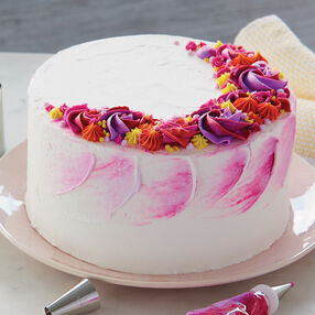 Bright and Bold Buttercream Flower Cake