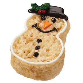 Crispy and Cheery Snowman Treats