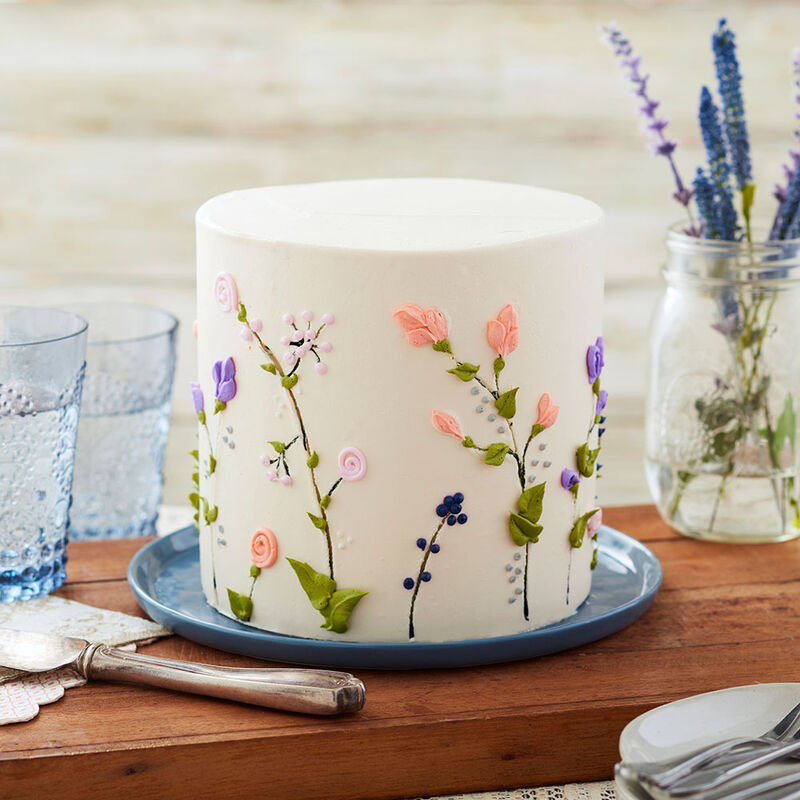 Breath of Spring Floral Cake image number 0