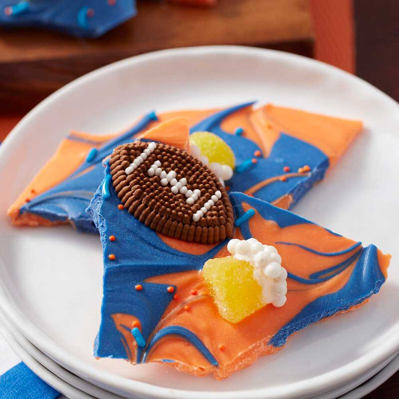 Wilton Football Candy Melts Candy Bark image number 1