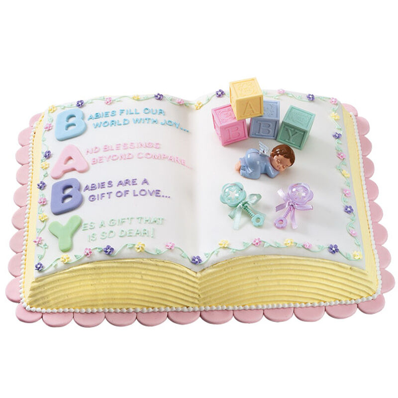 Letter Perfect Baby Shower Cake image number 0