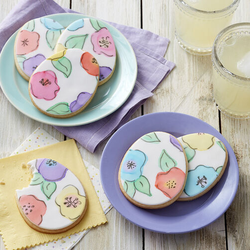 Painted Fondant Egg Cookies