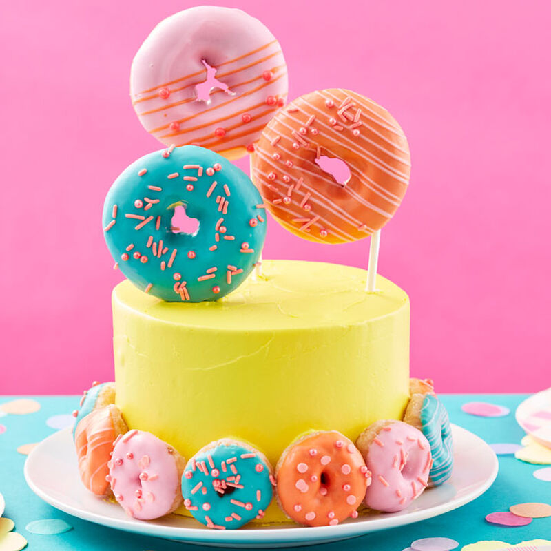 Easy Store-Bought Donut Decorated Cake