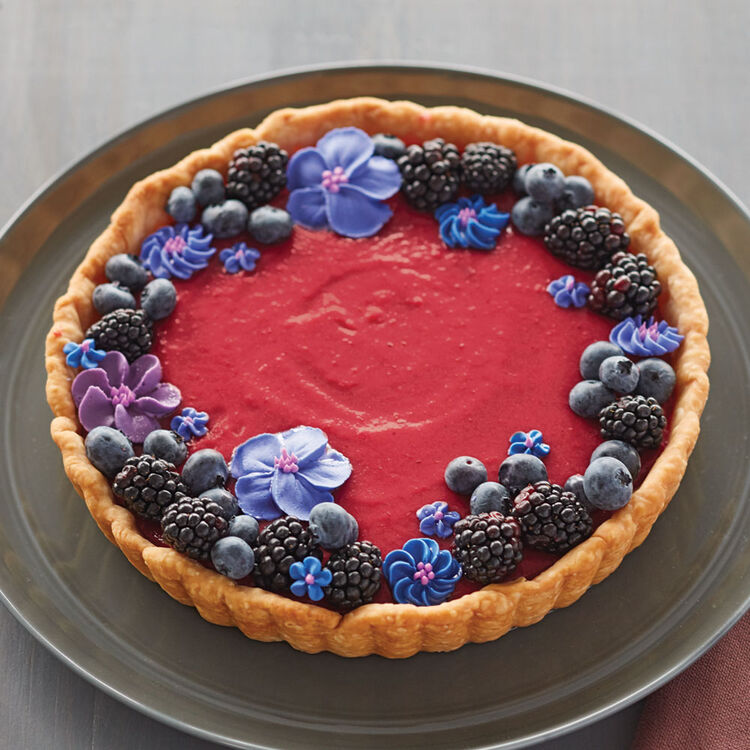 Purple and Blue Cranberry Tart