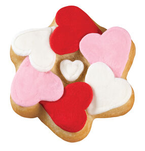 Encircled Hearts Pan Cookies