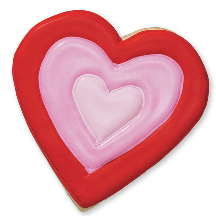 Pink and Red Heart Cookies