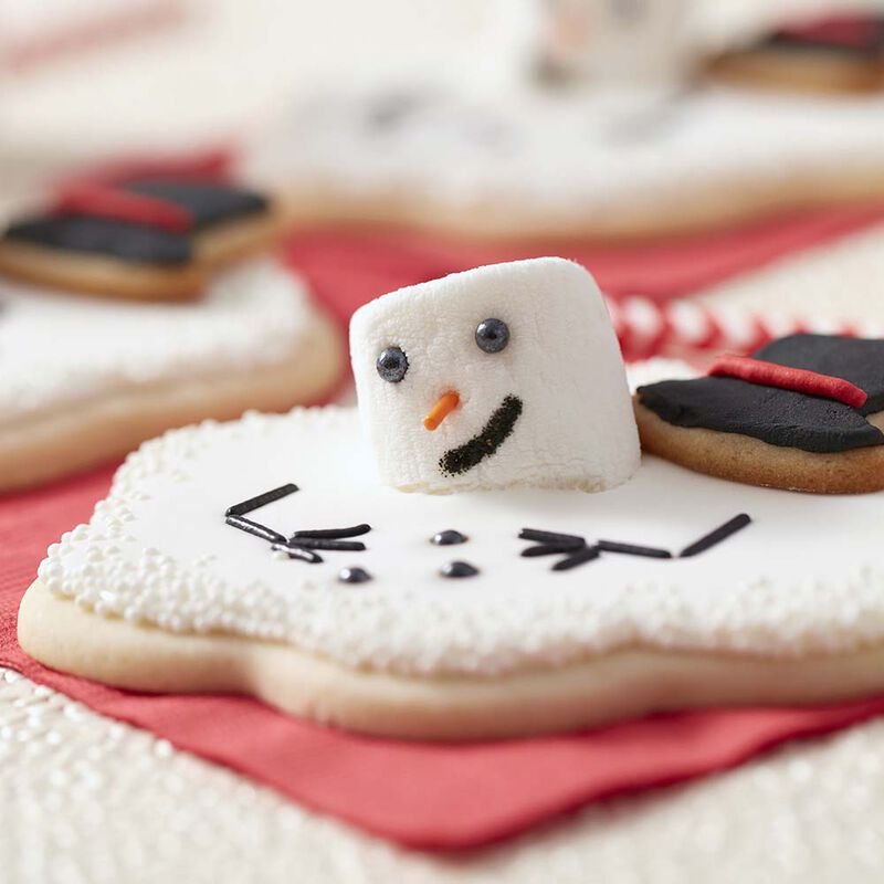 Melted Snowman Sugar Cookies image number 1