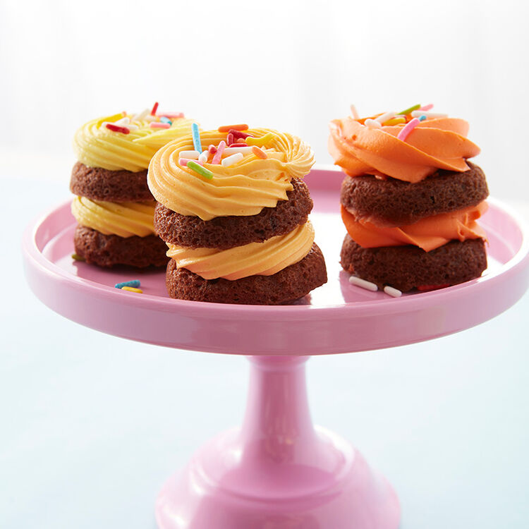 Tiny Chocolate Layer Cakes