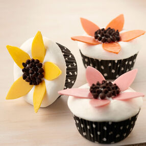 Candy Flower Cupcakes