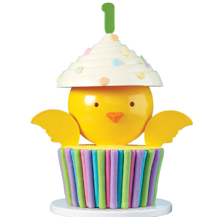 Baby Chick Surprise First Birthday Cake