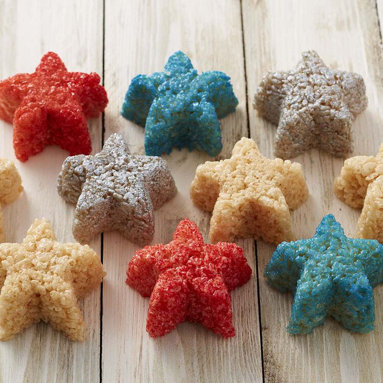 Wilton Star-Spangled Crisped Rice Cereal Treats