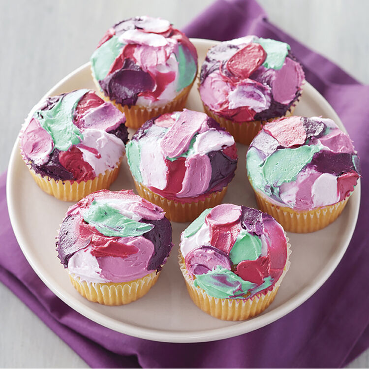 How to spatula paint cupcakes