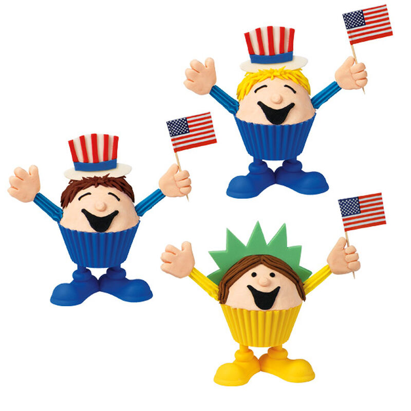 Uncle Sam & Lady Liberty Cupcakes image number 0