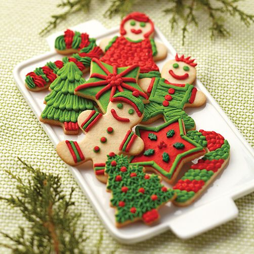 Images. Sugar Cookie Family Christmas Cookies