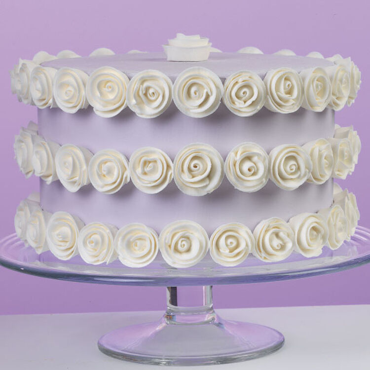 Rows of Roses Cake