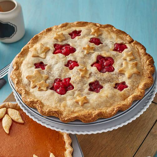 Wilton Cherry Pie with Star Cut Outs