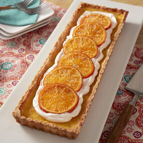 Candied Tangelo Tart Recipe