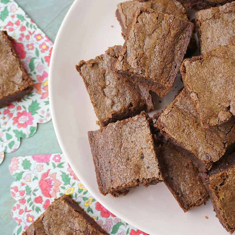 fudgy brownies on a plate