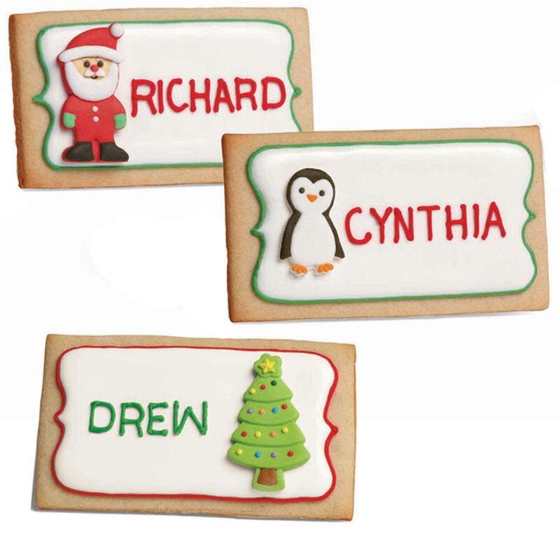 Festive Place Card Cookies image number 0