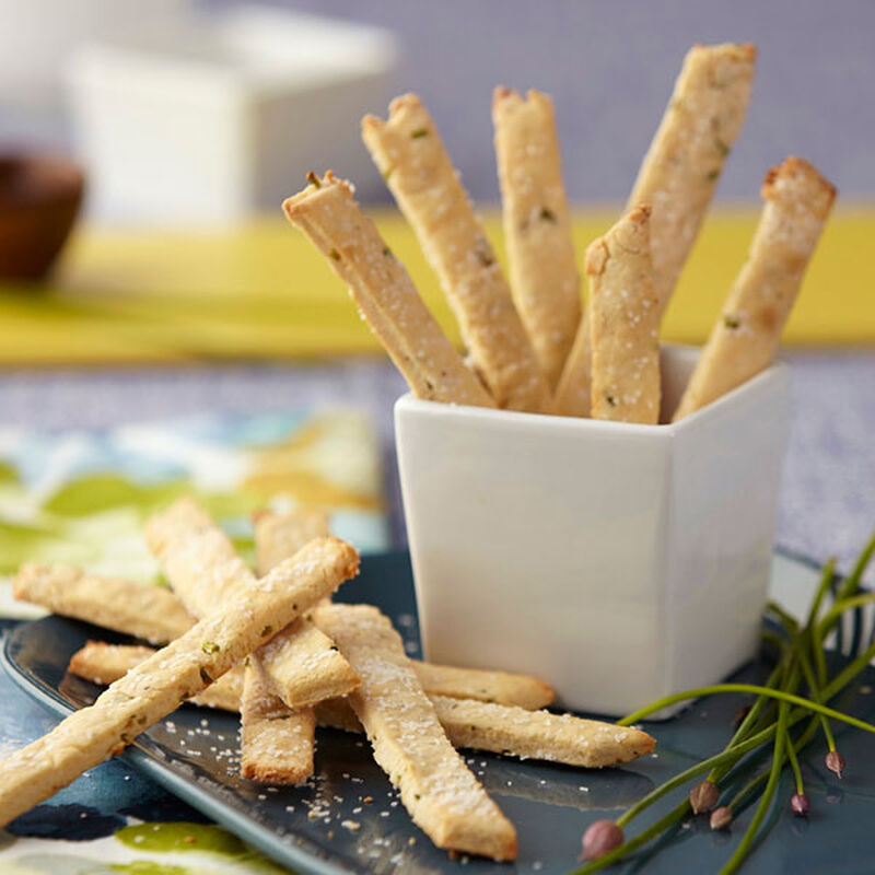 Goat Cheese & Chive Straws image number 0