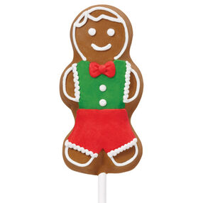 Gingerbread Boy Cookie Pop