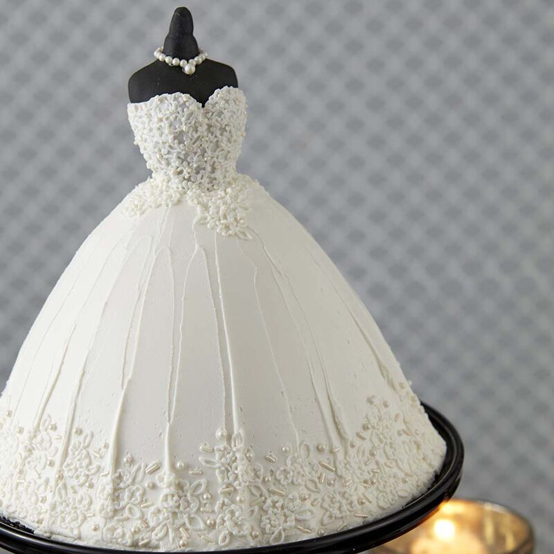 Elegant Wedding Dress Cake image number 1