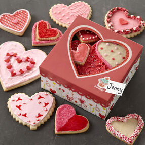 Love All Around Heart Cookies