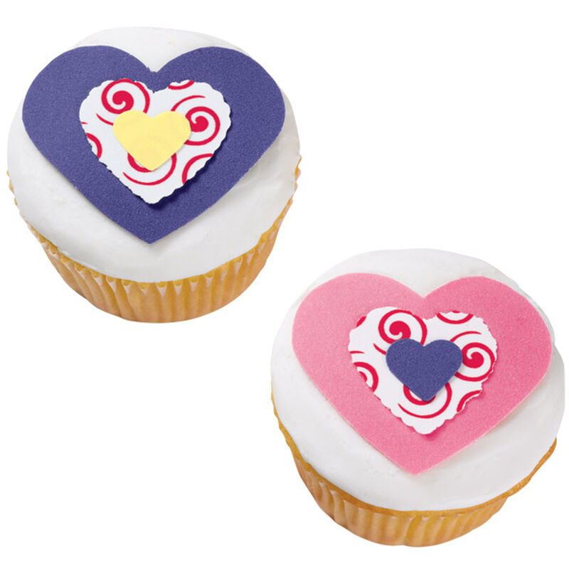 Triple Heart Cupcakes image number 0