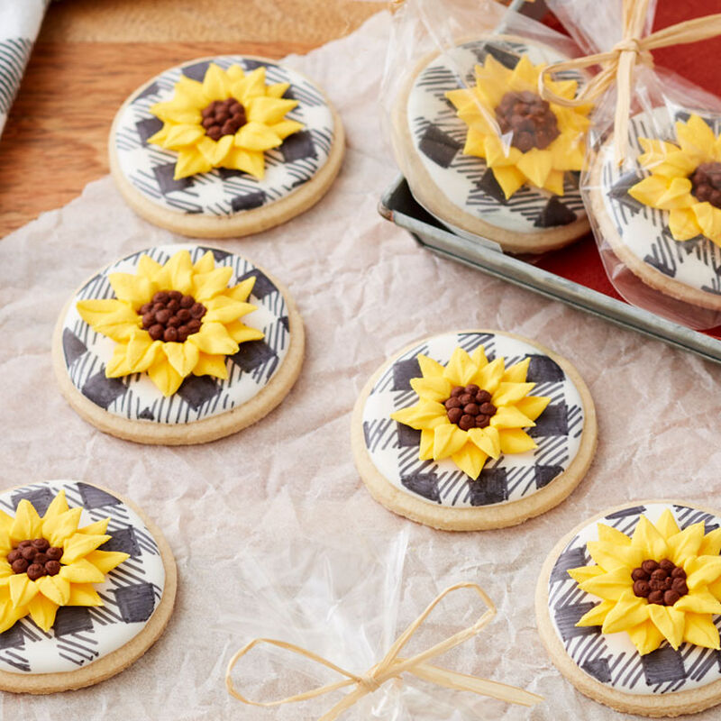 How to Make Fall Sunflower Cookies