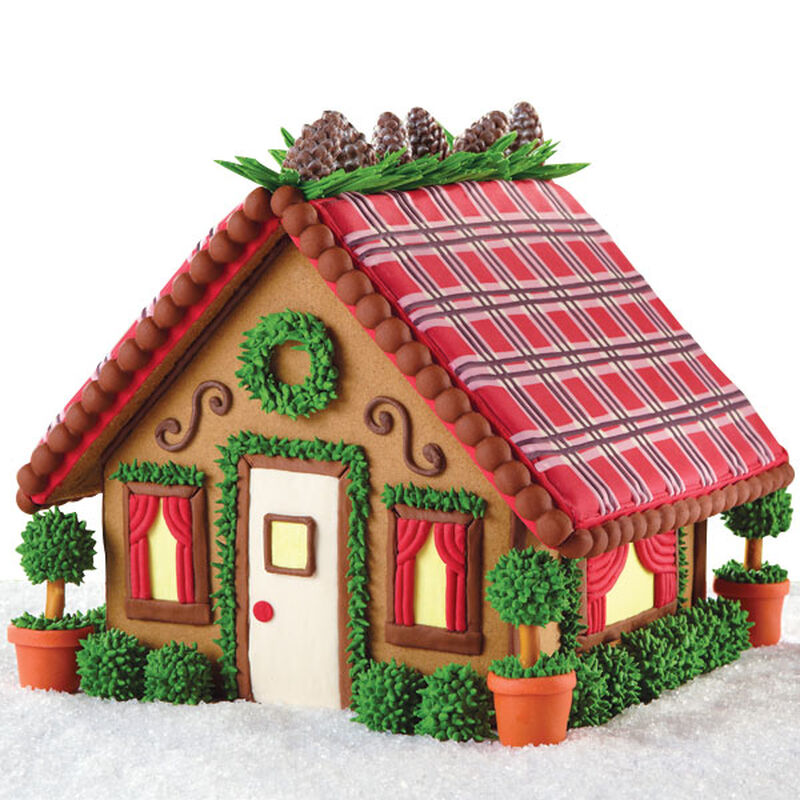 Mad-for-Plaid Mini Mansion Gingerbread House image number 0