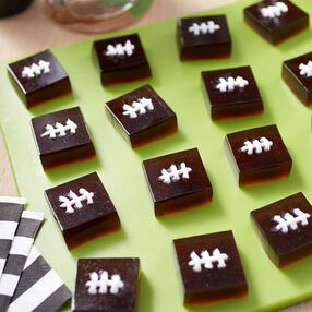 Root Beer Football Jelly Shots