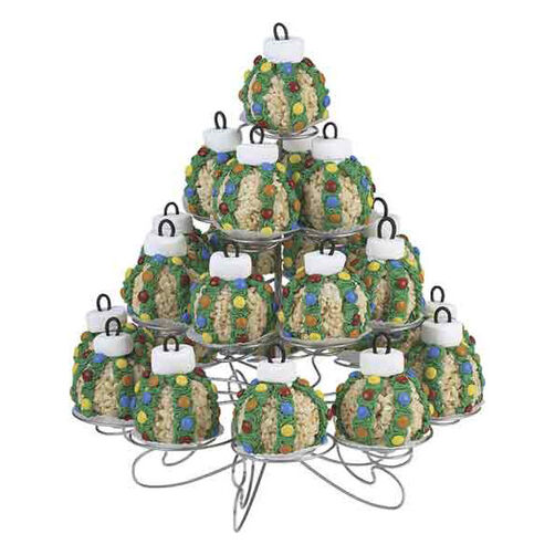 Ornament Tree Crispy Rice Cereal Treat