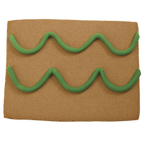 Fondant Garland for a Gingerbread House