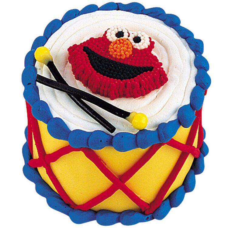 Elmo's Drum Solo Mini Cake