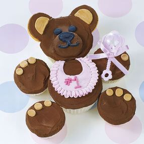 Cuddly Brown Bear Cupcake