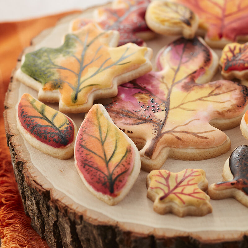 Fall Painted Leaf Cookies image number 1