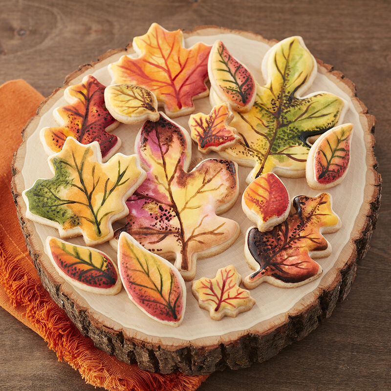 Fall Painted Leaf Cookies image number 0