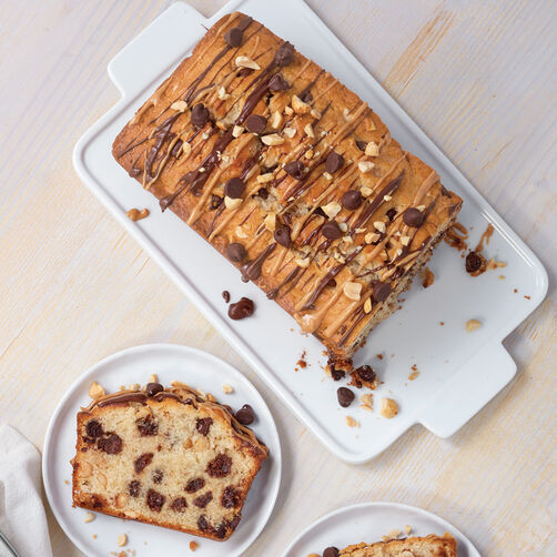 Chunky Chocolate Peanut Butter Loaf Recipe