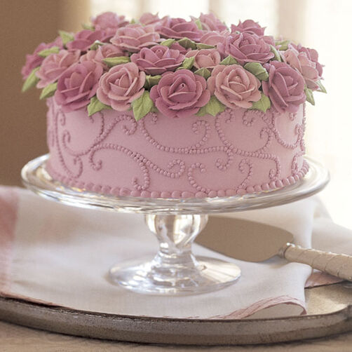 Brimming With Roses Cake