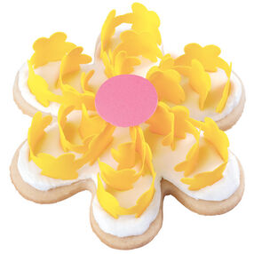 Yummy Yellow Scroll Flowers