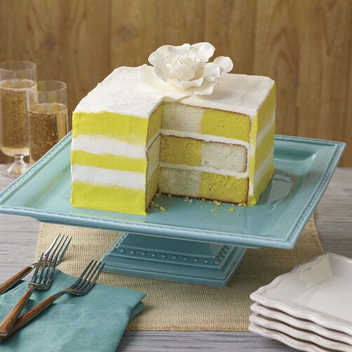 Wilton Sunshine Stripes Checkerboard Cake