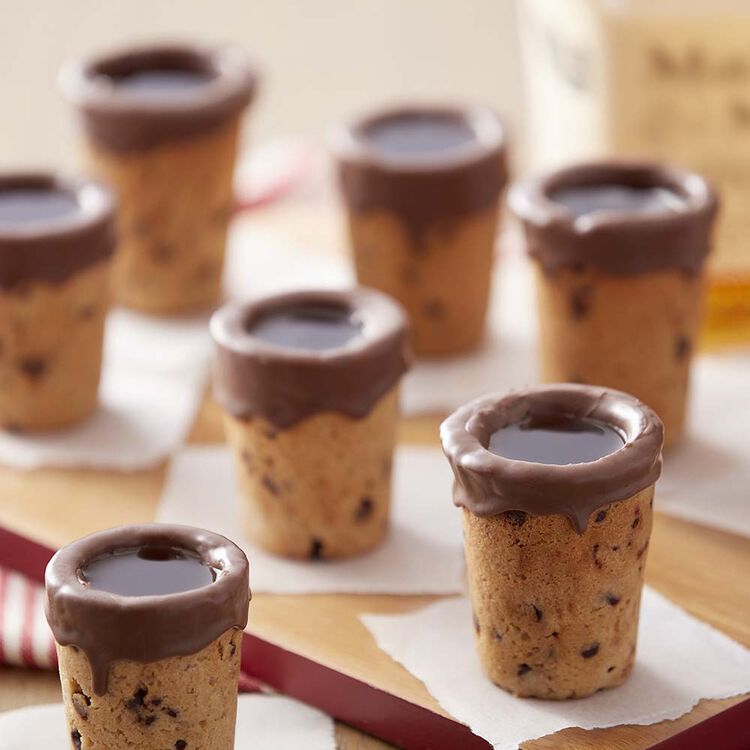 Bourbon Chocolate Chip Cookie Shooters