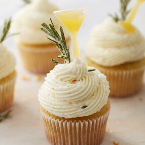 Orange and Rosemary Gimlet Cupcakes Recipe